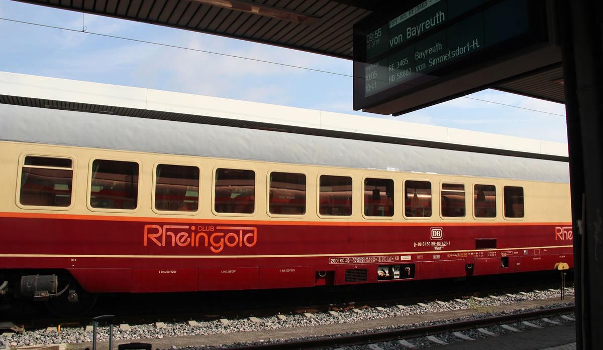 "Tren ""Club Rheingold"" en Nürnberg Hbf. © Bayreuth.es"