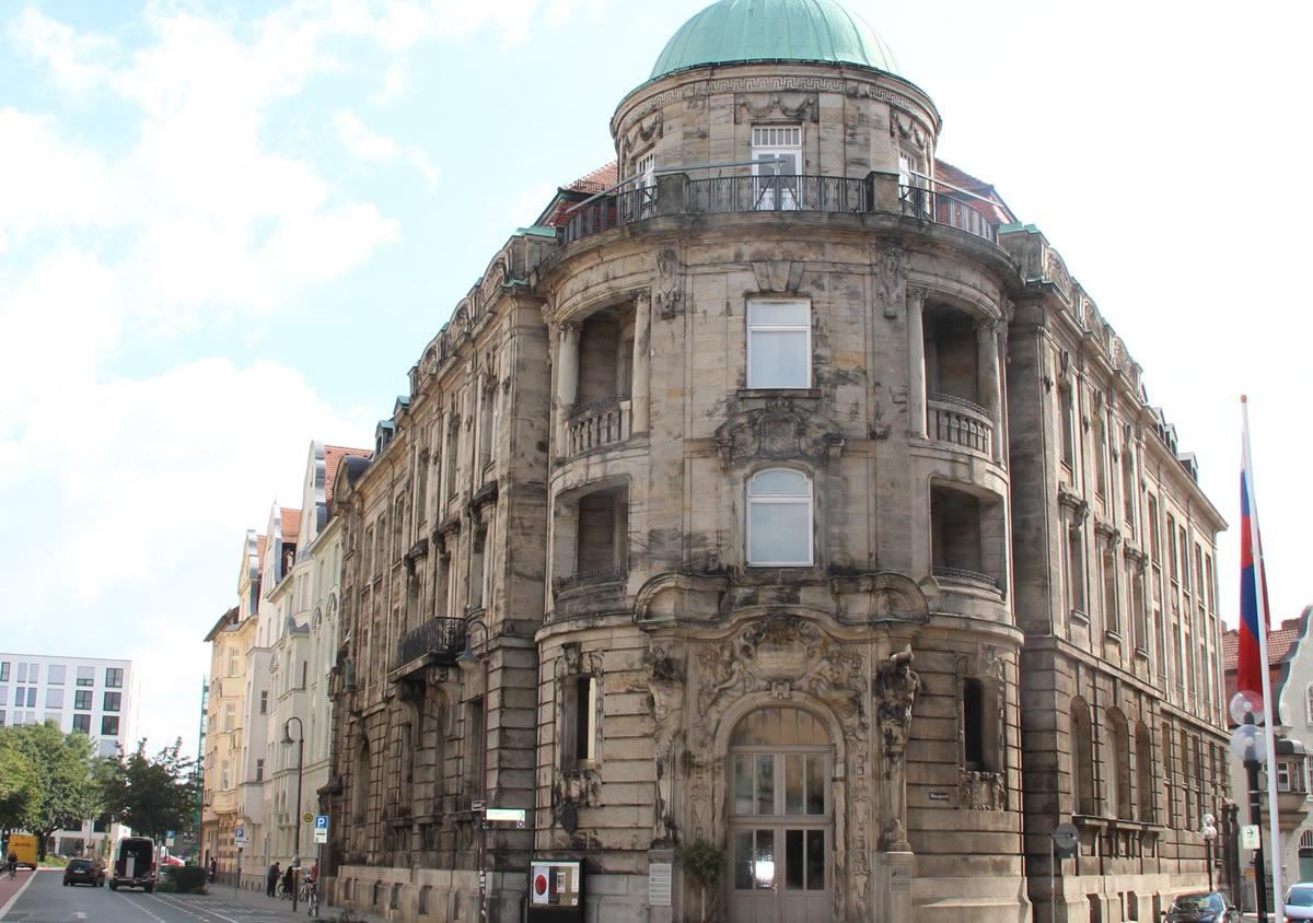 Edificio de la Universidad de Bayreuth donde se aloja el museo Iwalewahaus. © Bayreuth.es