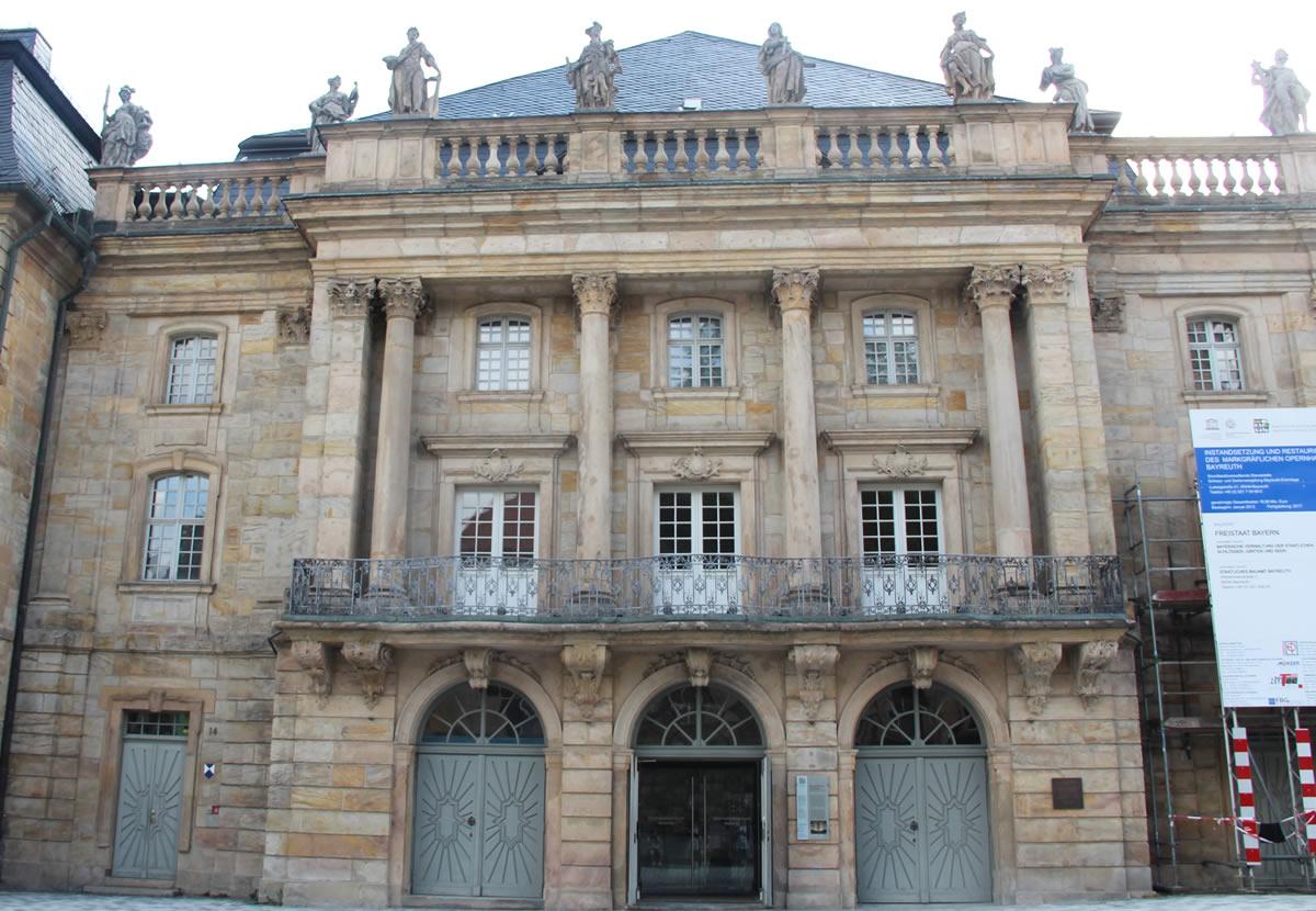 Fachada de la Ópera de los Margraves. © Bayreuth.es
