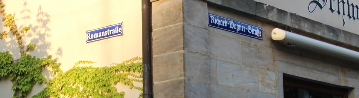Richard-Wagner-Strasse en su cruce con Romanstrasse. © Bayreuth.es